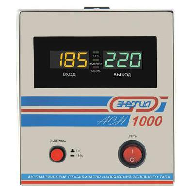 Стабилизатор релейный АСН-1000 ЭНЕРГИЯ LED (+/- 8%) ⋆ ТД «Энергия» | Актобе, Астана, Алма-Ата